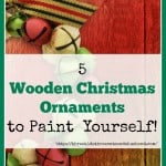 Unfinished Wooden Christmas Ornaments to paint yourself