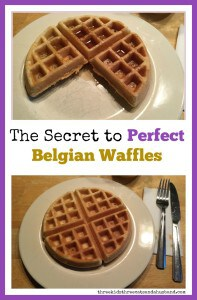 secret to perfect Belgian waffles