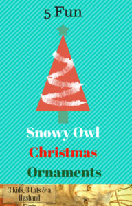 Snowy Owl Christmas Ornaments