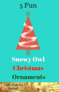 Snowy Owl Christmas Ornaments