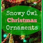 Fluffy Snowy owl christmas ornaments