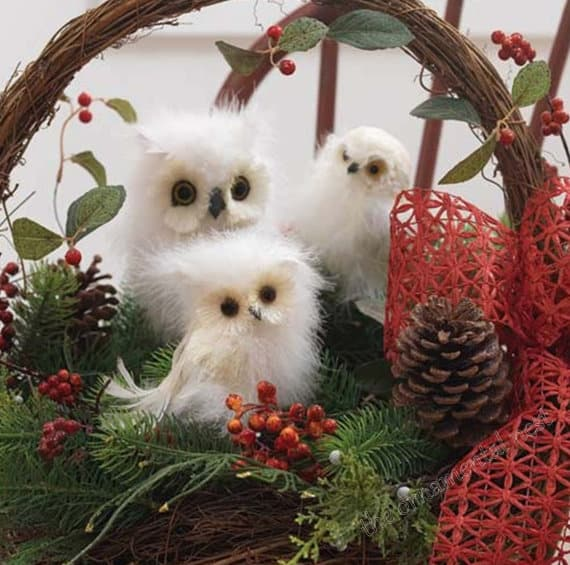 White Owl Christmas Decorations