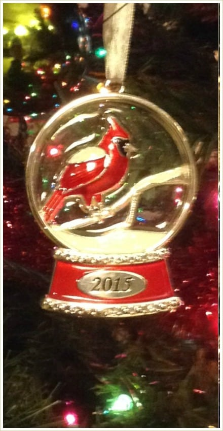 Cardinal Christmas tree ornament