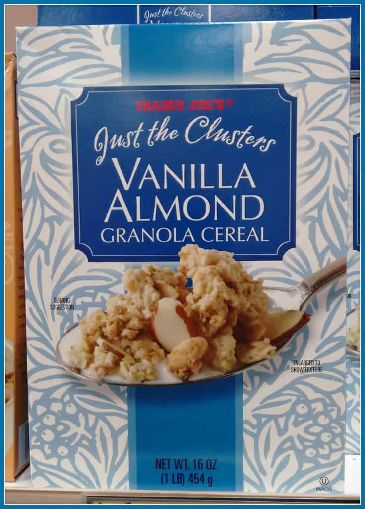 vanilla almond Granola at Trader Joes'