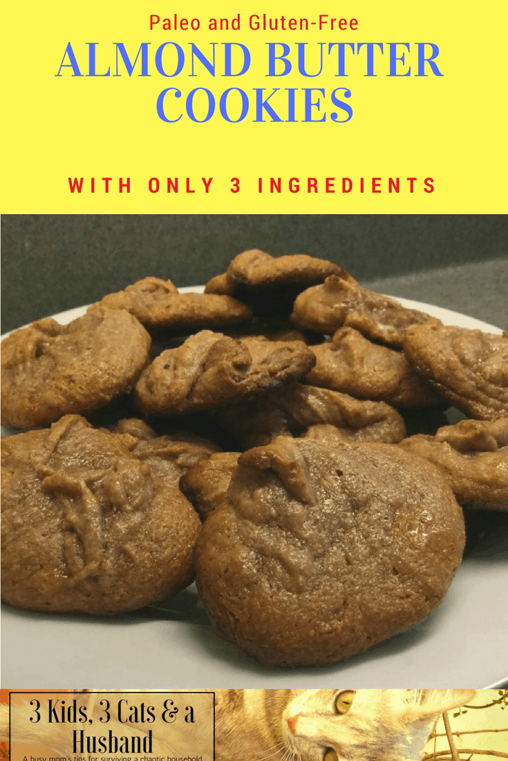 Paleo Almond Butter Cookies With Only Three Ingredients