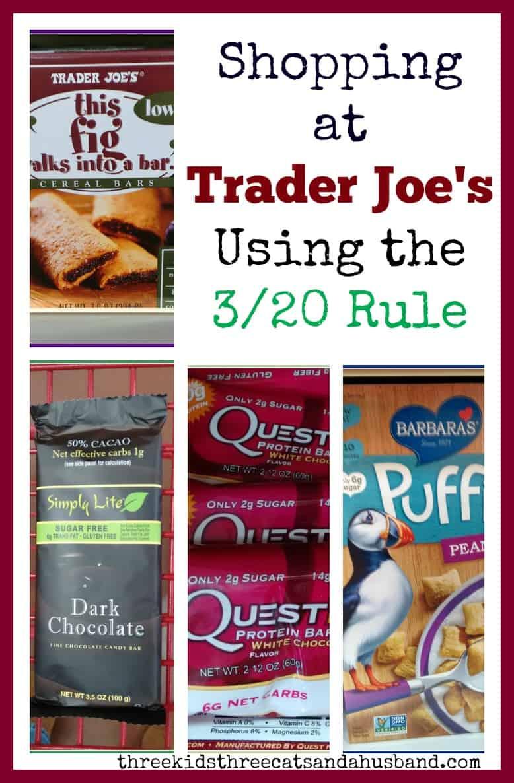 Shopping at Trader Joe's Using the 3/20 Rule