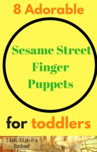 8 Sesame Street Finger Puppets