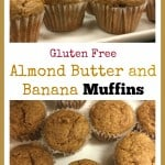 Gluten Free Almond Butter and Banana Muffins