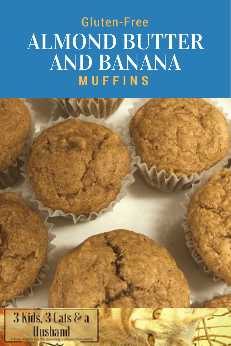 Gluten-Free Almond Butter and Banana Muffins