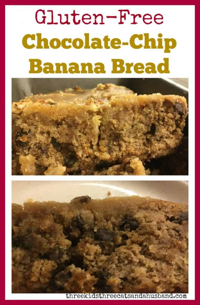 Gluten-Free Chocolate-Chip Banana Bread with coconut flour