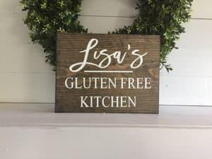 Personalized Gluten free kitchen sign