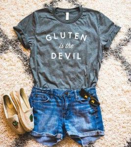 Shirt gift for gluten free friend