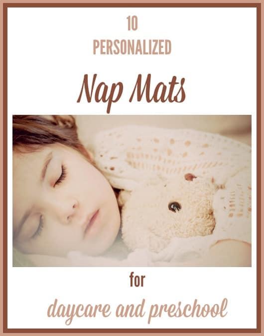 personalized nap mats for preschool and kindergarten