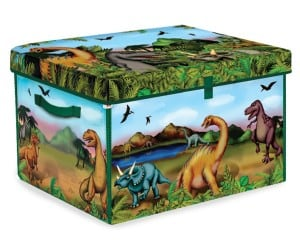 Dinosaur toy box and playset for kids