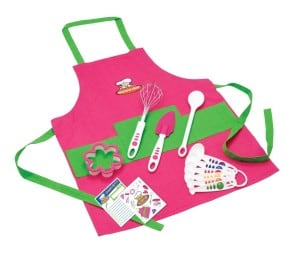 Pink Girls Apron and Baking Set for Beginners