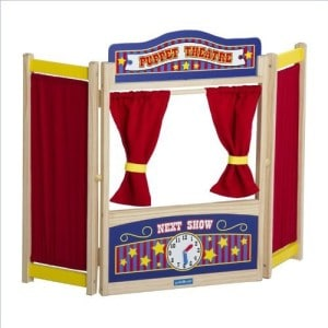 Kids Wooden Tabletop Puppet Theater