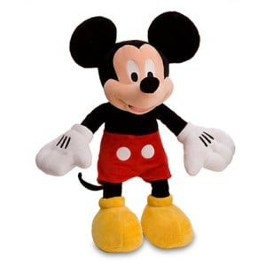 Plush stuffed Mickey Mouse toy for toddler boys