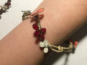 DIY bracelet wire and enamel paint