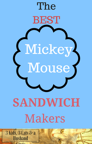 Mickey Mouse Grilled Cheese Sandwich Makers and Cutters