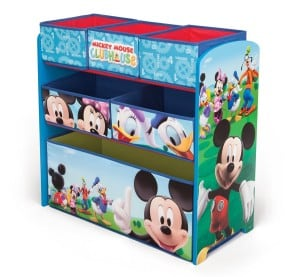 Mickey Mouse Clubhouse Multi Bin Toy Box for Boys