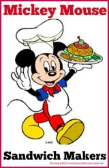 Mickey Mouse Sandwich Makers and Cutters