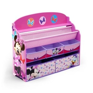 Minnie Mouse Book and Toy Box Organizer Bins for Girls