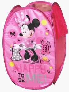 Minnie Mouse hamper toy storage for girls