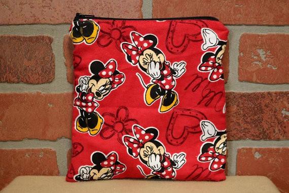 Washable Minnie Mouse Sandwich Bag
