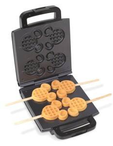 Mickey Mouse shaped waffle on a stick electric waffle maker