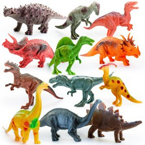 Big and Small Plastic Dinosaur Figure Toys