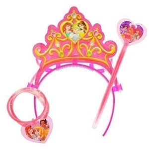 Glow in the dark tiara toy set for toddler girls