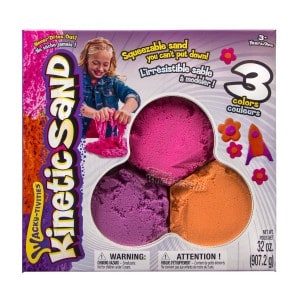 colorful kinetic sand