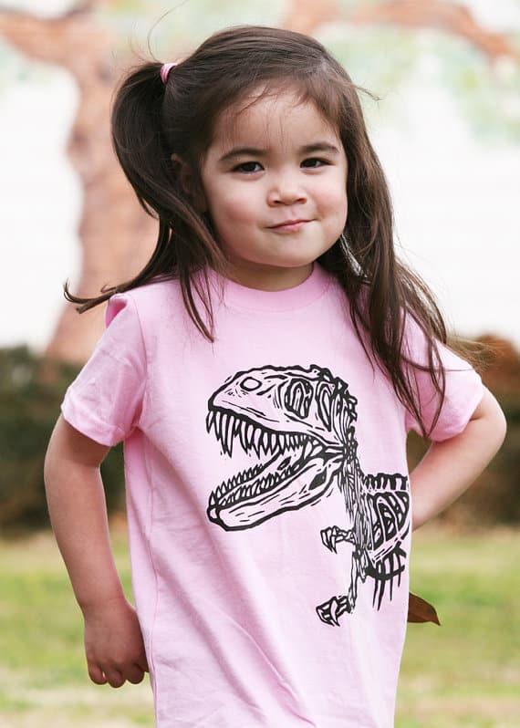 Pink Dinosaur T-shirt for Girls