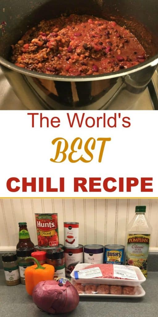 Worlds best chili recipe