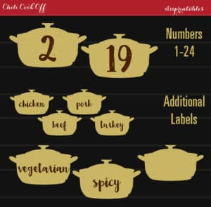Chili Pot Labels