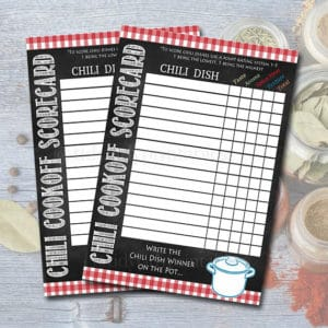 Chili Scorecards