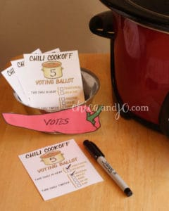 Chili Voting Ballots