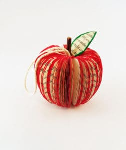 Vintage Apple Ornament for Teachers