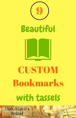 9 Beautiful Custom Bookmarks with Tassels