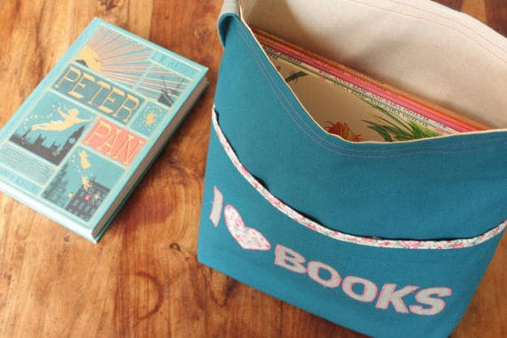 I Heart Books Tote Bag for Kids