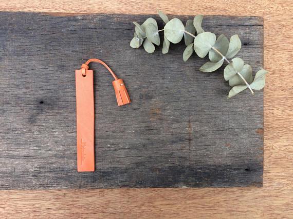 Leather Tassel Bookmark