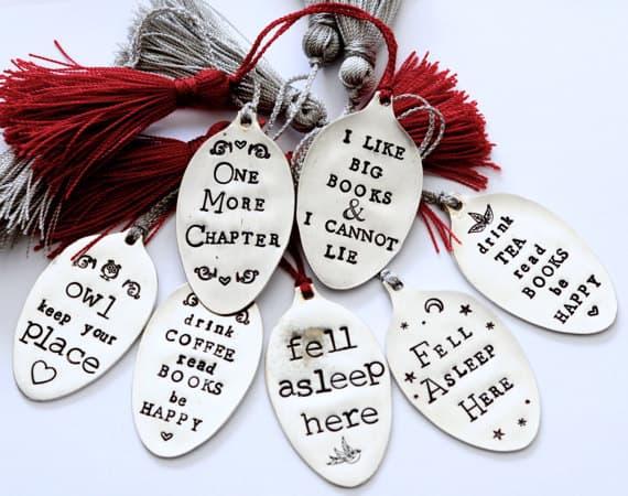 Silverplate Spoon Bookmarks with Handmade Tassel