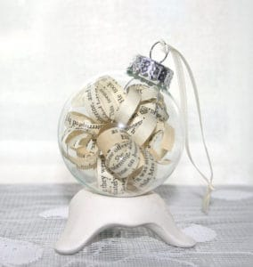 Vintage Book Holiday Ornament