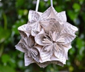 Paper Flower Christmas Ornament