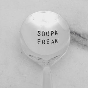 Soupa Freak Hand Stamped Soup Spoon