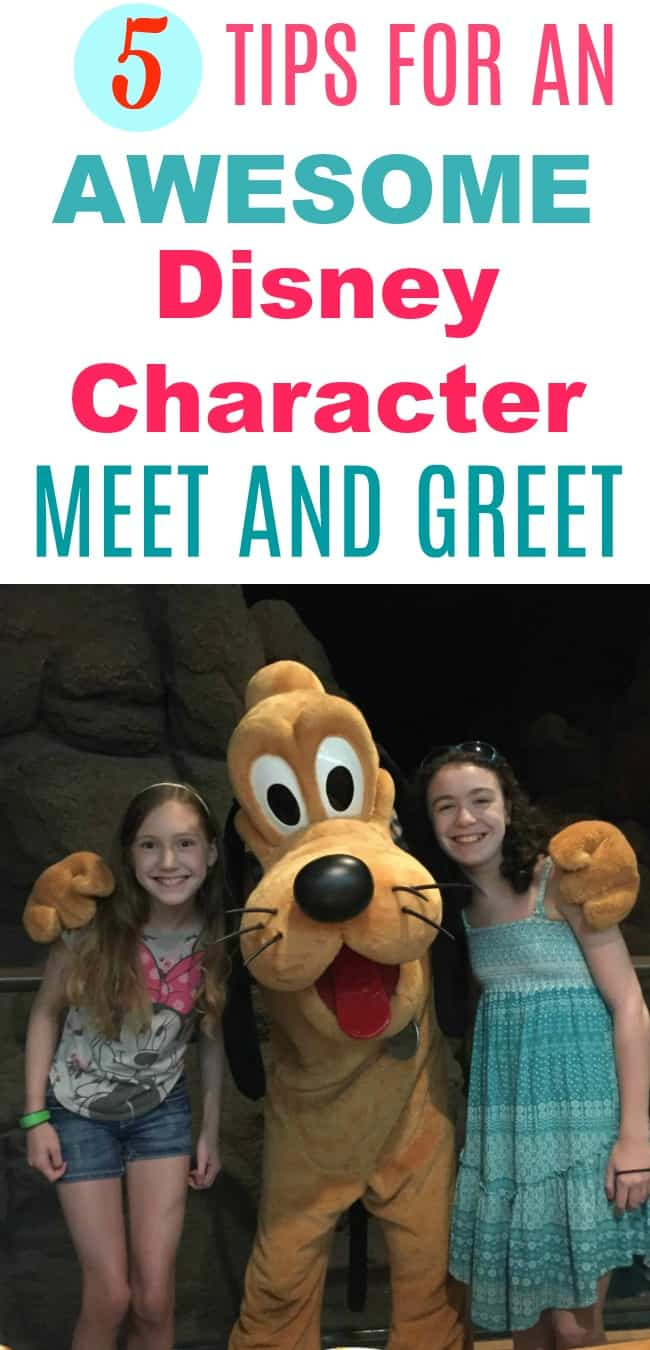 Disney world vacation tips -- how to have an awesome time meeting Disney characters with your kids