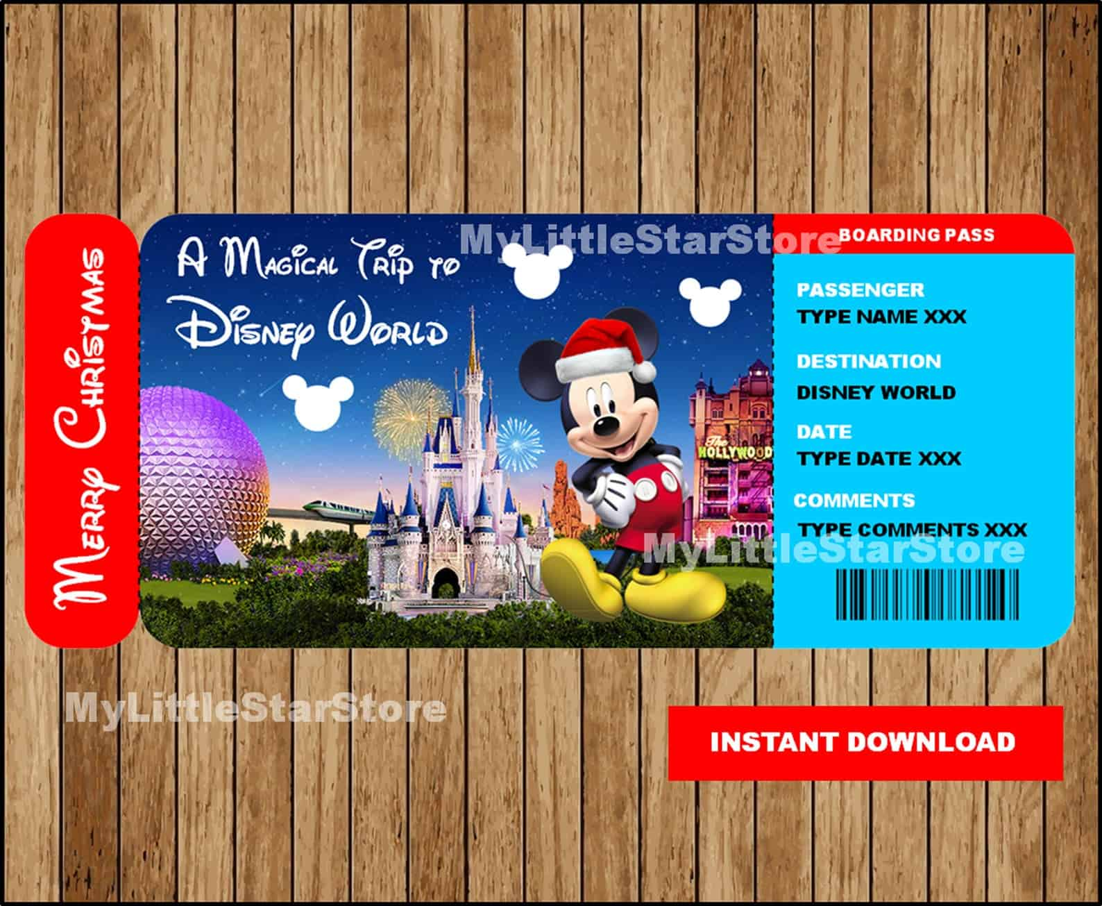 Printable Disney World Ticket
