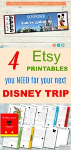 Etsy printables you need for your next Disney Trip