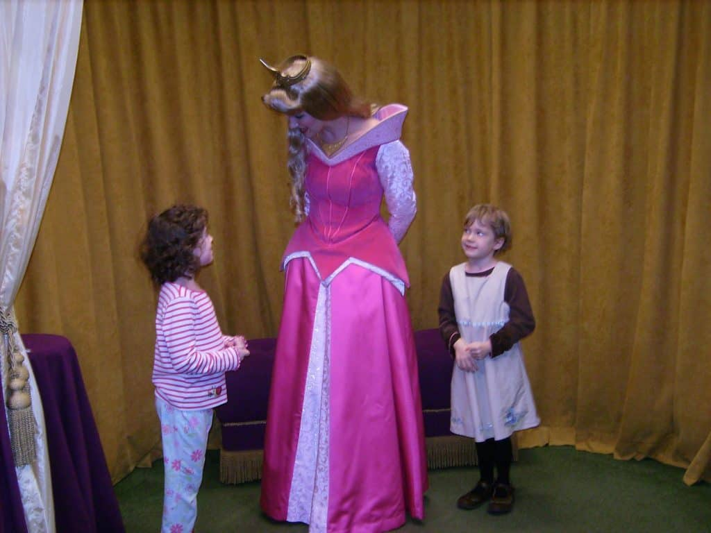 Disney character meet and greet with princess Aurora