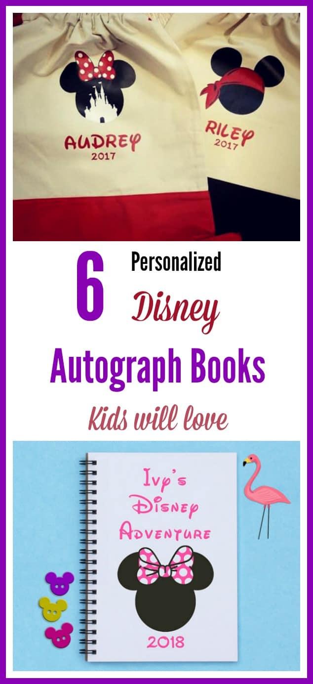 Personalized Walt Disney autograph books kids will love